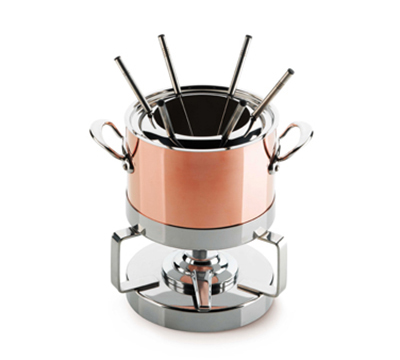Mauviel 6105.18 M'heritage Fondue Set w/ Stainless Handles