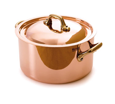 Mauviel 6522.24 9.5-in Oval M'150b Cocotte w/ 5.5-qt Capacity & Bronze Handles,