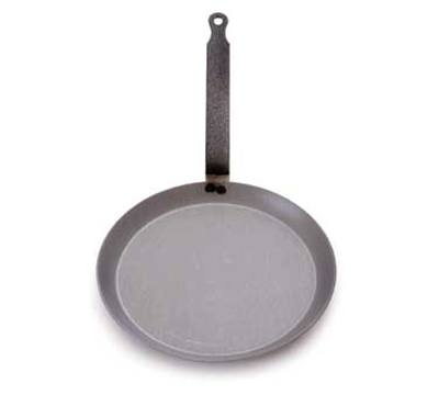 Mauviel 3653.24 9.5-in Round M'steel Crepes Pan w/ Handle, Black