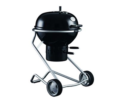 Rosle 25004 Charcoal Kettle Grill w/ Stainless Frame, 24-in Black