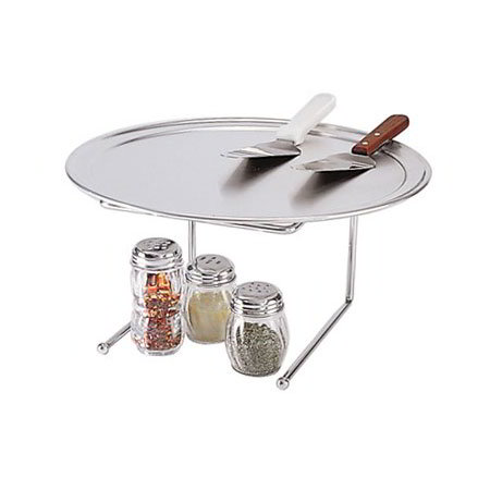 American Metalcraft 190039 Pizza Stand 9 in x 8 in x 7 in High Chrome Plated Steel Restaurant Supply