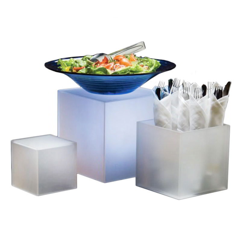 American Metalcraft AC579 Cube Riser Frosted 5 in 7 in & 9 in Set of 3 Restaurant Supply