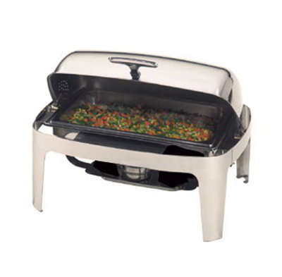 American Metalcraft ADAGIORT26 Rectangular Chafer w/ 9-qt Capacity, Stainless/Silver