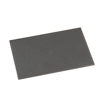 American Metalcraft BLACKBM1218 Bar Mat, 12x18-in, Rubb