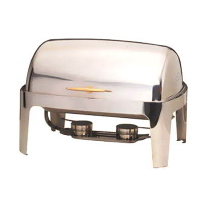 American Metalcraft GOLDAGRT26 Rectangular Chafer w/ 9-qt Capacity, Stainless/Gold