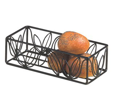 American Metalcraft LFBB1253 Basket w/ Leaf Design, 12x5-in, Wrought Iron/Black