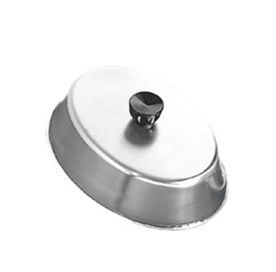 American Metalcraft BAOV810S Oval Basting Cover w/ Bakelite Knob, 10.5x7.75-in, Black, Stainless