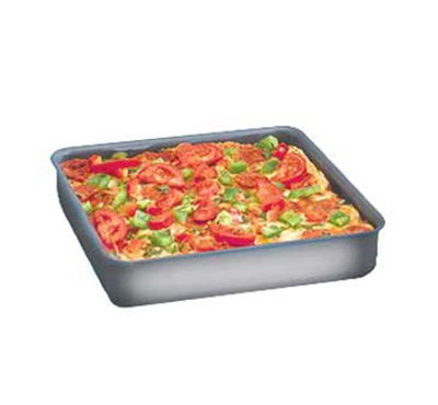 American Metalcraft HCSQ1610 Straight Sided Deep Dish Pan, 1-in Deep, 16x16-in, Hardcoat, Aluminum