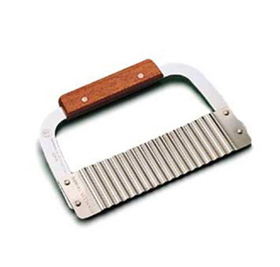 American Metalcraft SER75 7-in Crinkle Cut Serrator w/ Corrugated Blade, Stainless/Wood