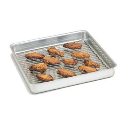 American Metalcraft SQ1610 Straight Sided Deep Dish Pan, 16x16-in, 1-in Deep, Aluminum