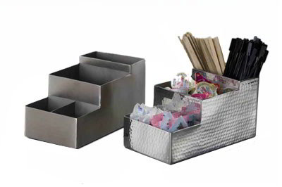 American Metalcraft BARS5 4-Compartment Bar Organizer, Satin/