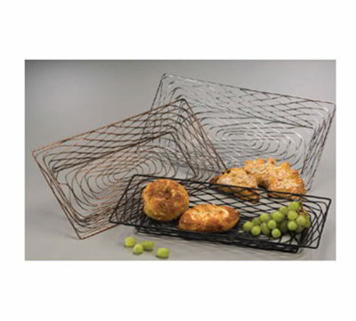 American Metalcraft BNBB32 18.25-in Rectangular Wire Basket, Black