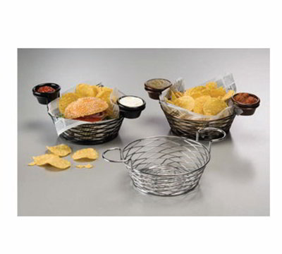 American Metalcraft BNBC80 8-in Round Wire Basket w/ Ramekin Holder, 8x3.62-in, Ch