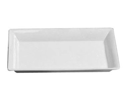 American Metalcraft CER21 Rectangular Platter, 21x13-in, Ceramic/White