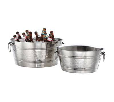 American Metalcraft DWBT185 19-in Party Tub w/ 940-oz Capacity & Swing Handle, Mirror, Stainless