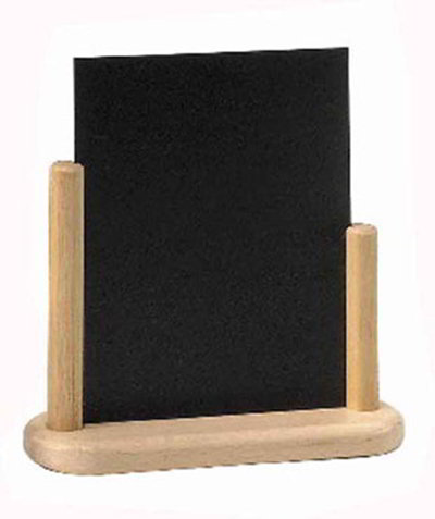 American Metalcraft ELEBLA Table Top Board w/ Removable Blackboard, 9x12-in, Wood