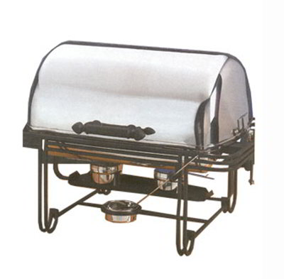 American Metalcraft MESA27 Rectangular Roll Top Chafer w/ 8-qt Capacity, Wrought Iron/Stainless