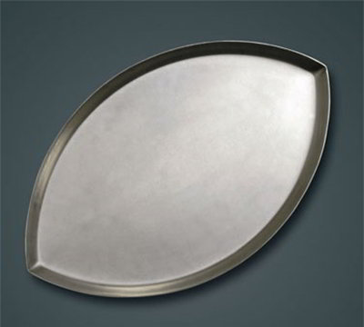 American Metalcraft FBALL2HC Football Shaped Pizza Pan, 1.75-in Deep,