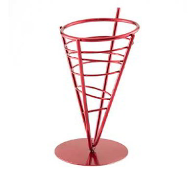 American Metalcraft FFBR59 5-in Round Basket, Red