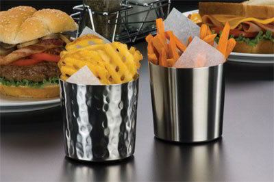 American Metalcraft FFC337 3.37-in French Fry Cup, Satin Fini