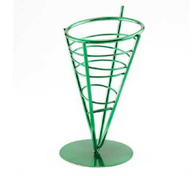 American Metalcraft FFBG59 5-in Basket, Conical, Green