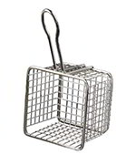 American Metalcraft FRYS443 4-in Square Tabletop Fry Basket, Stainless