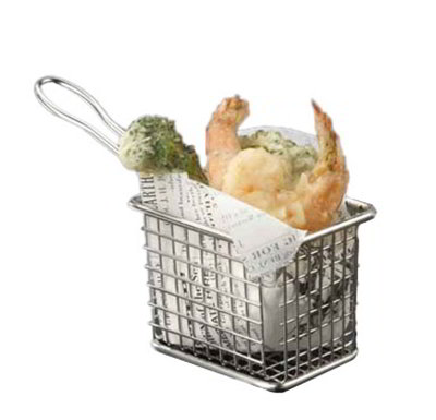 American Metalcraft FRYT433 Rectangular Tabletop Fry Basket, Stainless