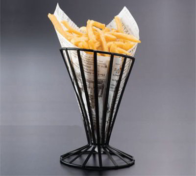 American Metalcraft FWB4 4.5-in French Fry Basket, Black
