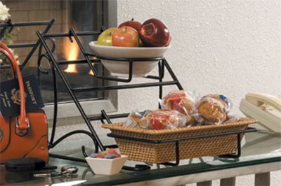 American Metalcraft HR5 Small Rectangular Hanging Rack, Wrought Iron/Black