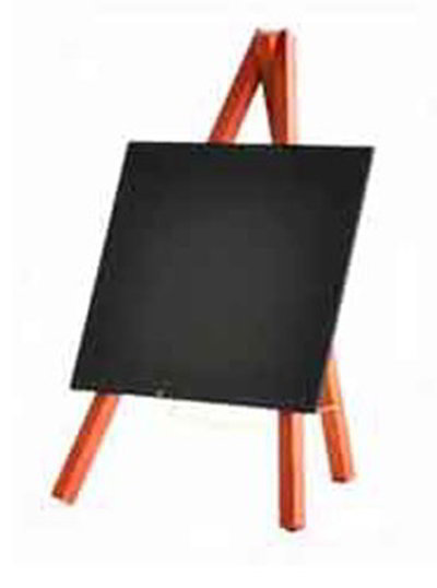American Metalcraft MNIMKR Mini Tabletop Chalkboard w/ Removable Board, Mahogany