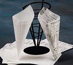 American Metalcraft PPRN2121 Flat Wax Paper, 12x12-in, Newsprint