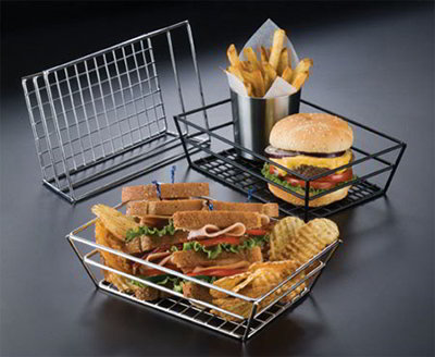 American Metalcraft RMB59C Rectangular Basket w/ Grid Bottom, Chrome