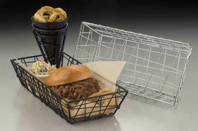 American Metalcraft ROC1362 Rectangular Zorro Basket, Chrome