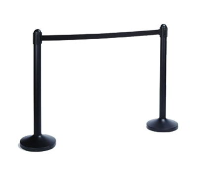 "American Metalcraft RSBPBL 40"" Barrier Post/Base System - Black"