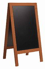 American Metalcraft SBSM135 Large Sandwich Board w/ Double Side, 30x54-in, Mahogany