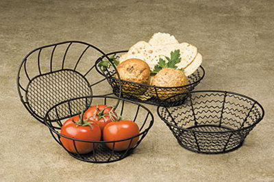 American Metalcraft WSB82 8-in Basket w/ Wavy Side, Mesh
