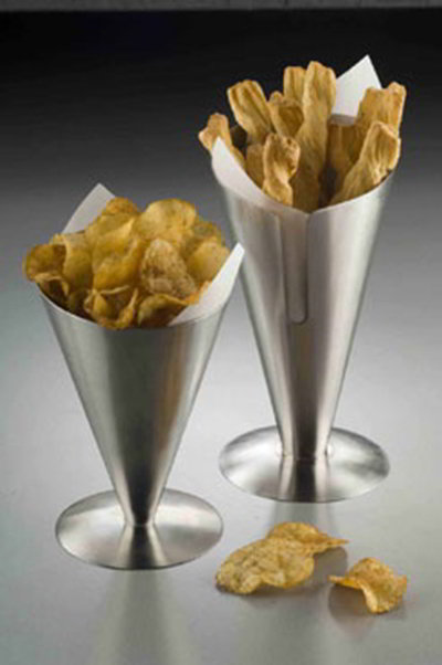 American Metalcraft SSFC7 4.5-in Fry Cone Holder, Stainless