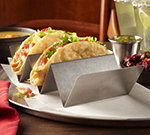 American Metalcraft TSH3 Taco Holder w/ Up To 3-Compartments, Brushed/Stainless
