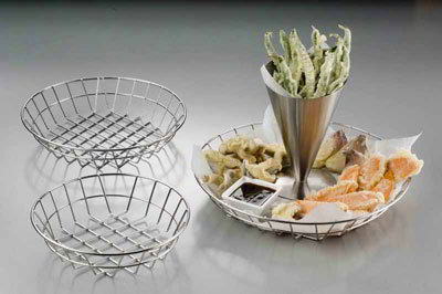 American Metalcraft WISS10 10-in Basket, Stainless