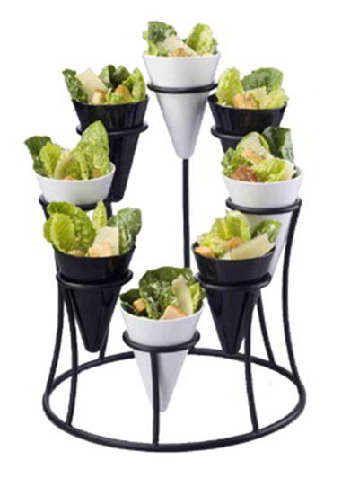 American Metalcraft WS1908 12-in Cone Stand w/ 8-Cone Capacity, Wrought Iron/Black