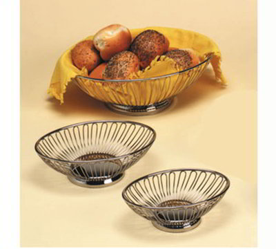 American Metalcraft OBS58 Oval Basket, 8.25x5.12-in, Stainless
