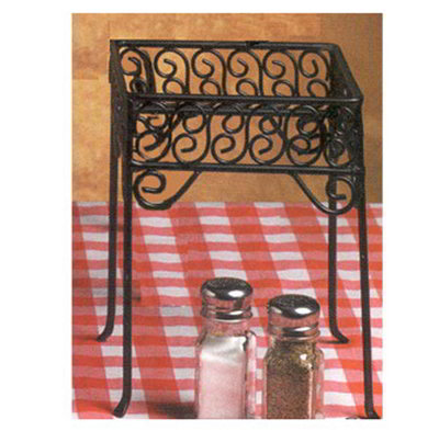 American Metalcraft PSS77 Square Pizza Stand w/ Scroll Design, Wrough