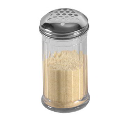 American Metalcraft GLA319 Cheese Shaker w/ 12-oz Capacity & 1/4-Holes, Glass/Stainless