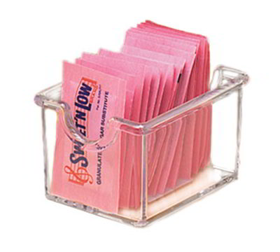 American Metalcraft SP325 Sugar Packet Holder, Clear/Plastic
