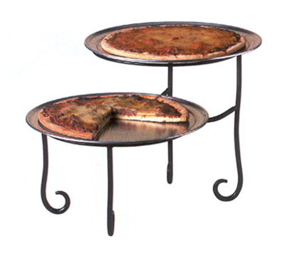 American Metalcraft TLSP1219 2-Tier Display Stand w/ Curled Foot, 12x19-in, Wrought Iron/Black