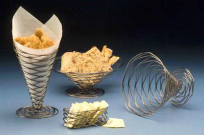 American Metalcraft BNU7 Birdnest Basket Conical 7 x 6 in Wire w/ Copper Finish Restaurant Supply