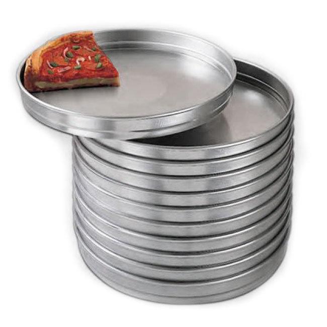 American Metalcraft HA5109 9 in Aluminum Pizza Pan Self Stacking Restaurant Supply