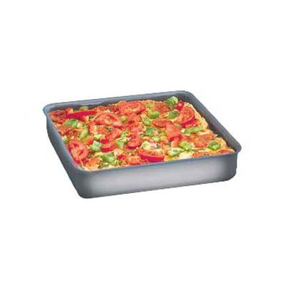 American Metalcraft HCSQ1015 Solid Aluminum Straight Sided 1-1/2 in Deep Dish Pan Seamless Corners 10 x 10 Restaurant Supply