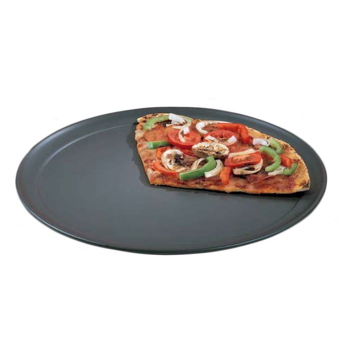 American Metalcraft HCTP9 Solid Aluminum Wide Rim Pizza Pan w/ Hardc Restaurant Supply