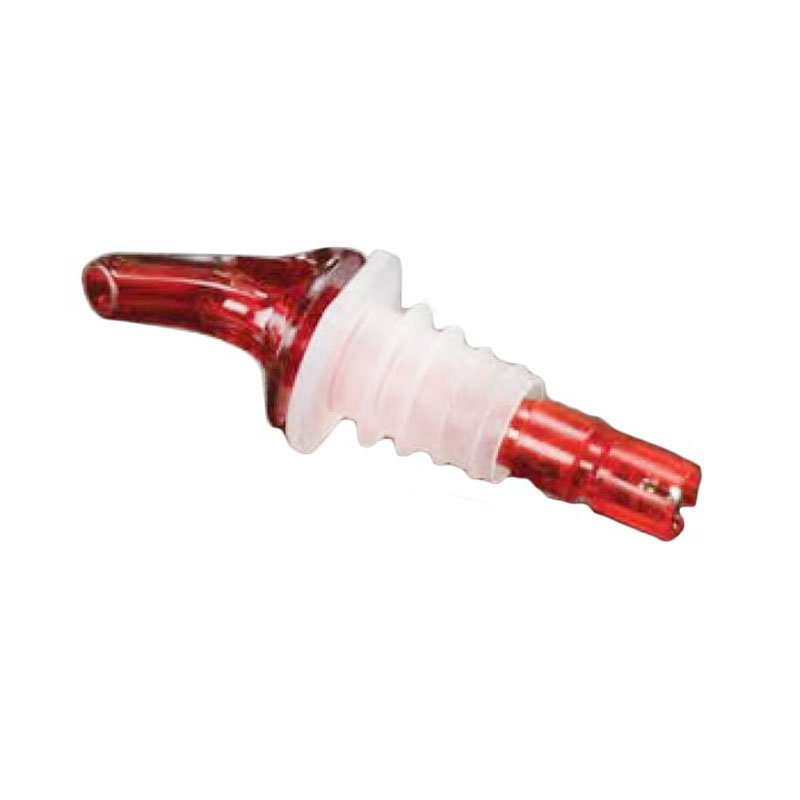 American Metalcraft MPR100 Measure Pourer 1 oz Capacity Red Nozzle Red Base No Collar Restaurant Supply